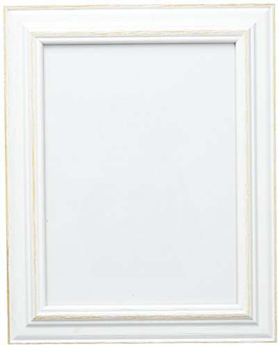 Deknudt Frames S221H1 - Marco de foto de madera blanca, 15 x 20 cm