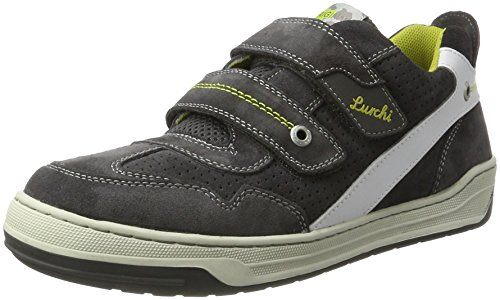 Lurchi BRUCE Low-Top, Mehrfarbig (Charcoal White 25), 34 EU
