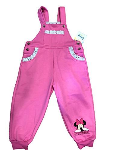 Warme und gefütterte Baumwolle Mädchen Baby Latzhose Freizeithose Jogginghose Pumphose in Grösse 80 86 92 98 mit Minnie Mouse Motiv von Disney in...