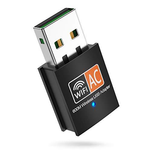 InnOrca - Adaptador de red de antena LAN (600 Mbps, 2,4/5 GHz, adaptador inalámbrico de red 802.11ac/a/b/g/n, soporte Wi-Fi, cifrado Wi-Fi, Windows XP/7/8/10, Mac OS X