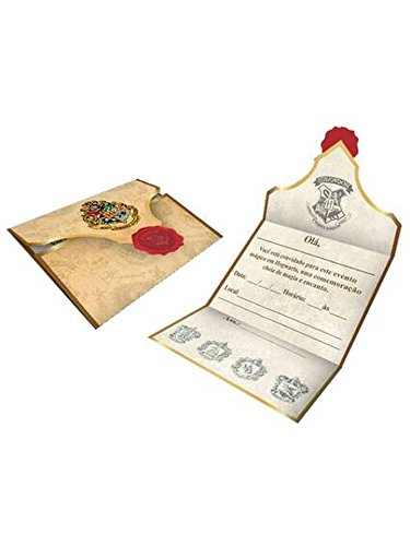 Convite Harry Potter, Festcolor 104915, Vermelho/Preto, Festcolor, 104915, Vermelho/Preto