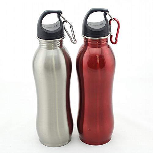 CGMZN Wasserglasbeutel 750ML 3 Couleurs Portable Sports bouilloire en Acier inoxydable peindre autour du Corps ma bouteille D'eau Boucle d'alpinisme