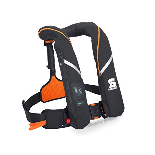 Automatische reddingsvest Secumar Survival 275 Harness zwart/oranje