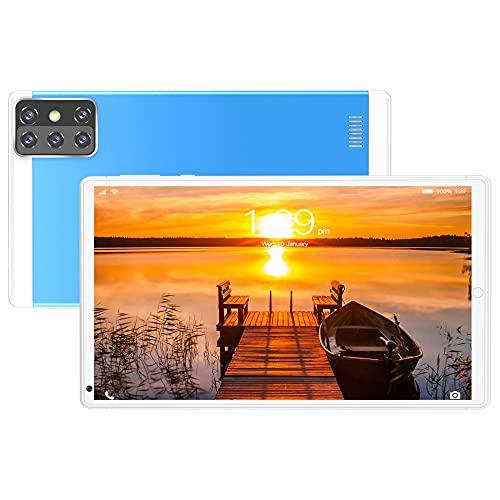 LINGOSHUN Tableta,Pantalla IPS HD de 1280x800,CáMara Trasera de 2MP,Soporte GPS,Wifi,Bluetooth,Google Play,1GB de RAM Y 16GB de ROM Tablet/azul / 8.0 Inch