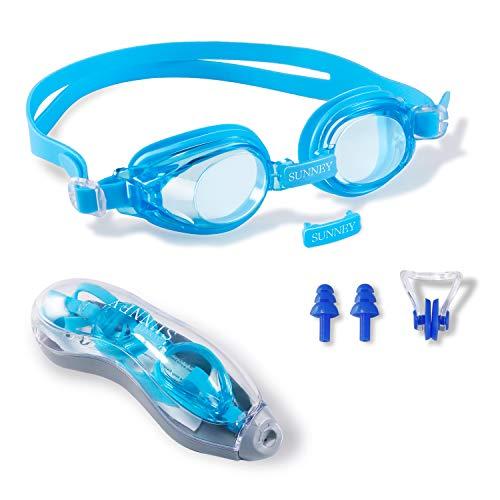 Schwimmbrille Kinder-Wasserdicht Lecksicher Antibeschlag Schwimmbrille für KinderUV Schutz Weiches Silikon Linse Kinder Schwimmbrille verstellbares Kopfband