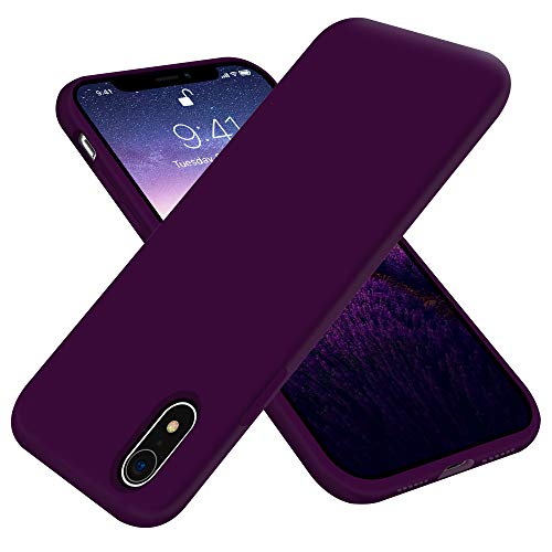 OTOFLY Compatible with iPhone XR Case 6.1 inch,[Silky and Soft Touch Series] Premium Soft Liquid Silicone Rubber Full-Body Protective Bumper Case for iPhone XR (Purple)