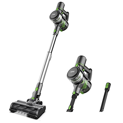 TOPPIN Stick Vacuum Cleaner Cordless - Tangle-Free 6 in 1 Powerful 12Kpa Suction Stick Vacuum, Lightweight and Large Capacity, Up to 28min Runtime, Ideal for Home Hard Floor Carpet Car Pet