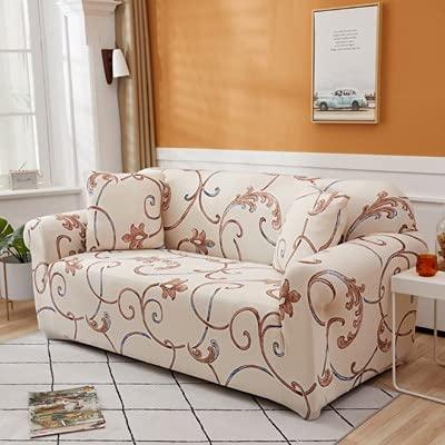 ASCV Sofabezüge für den Wohnzimmerdruck Farbecke Elastische Spandex-Schonbezüge Couchbezug Stretch-Sofa Handtuch L-Form A20 3-Sitzer