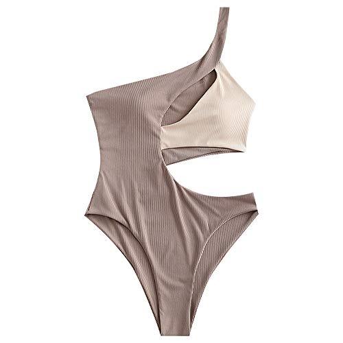 ZAFUL One Shoulder Bikini Contrast …
