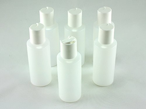 Skyway 2 OZ TSA Airline Carry On Approved Plastic Travel Bottles Containers -Set of 6 - Easy Open Close Tops Leak Proof Refillable Durable Lightweight Perfect For Traveling - BPA Free