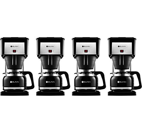 BUNN BX Speed Brew Classic 10-Cup Coffee Brewer, Black (Four Pack)