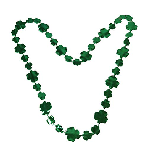 BESTOYARD 3 stücke Mode Halskette Saint Patrick's Day grüne Kleeblatt Kette Design Halskette Unisex grüne Kette halsketten Cosplay kostüm Prop (grün)