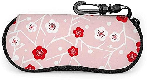 Tcerlcir Estuche para gafas Plum Blossom-Flower Petals Estuche suave para gafas de sol Estuche para gafas para mujeres y hombres, 17x8cm