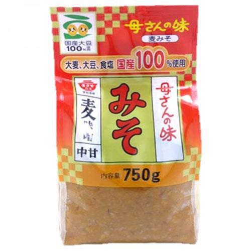 ますやみそ 香る母さんの味 麦みそ 750g×12袋入