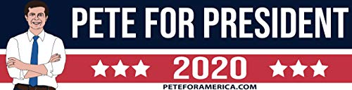 Sustainablu Pete for President 2020 Bumper Sticker - Hand Drawn - 11.5