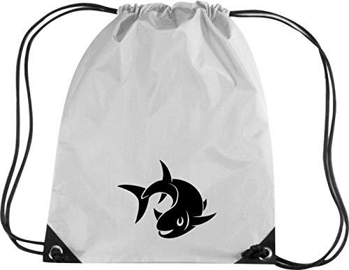 Camiseta stown Premium gymsac Animales Pez Fish, plata