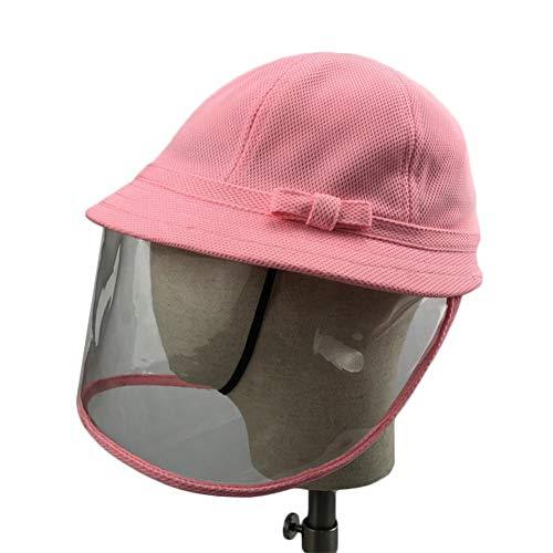 Drawihi Fischerhut, nicht abnehmbar, aus Netzstoff, für Kinder, für Jungen und Mädchen, wendbar, Baumwolleimer Gr. Rosa, 54 cm