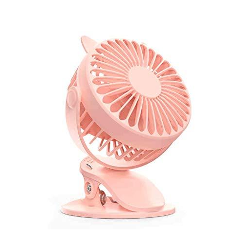 Mini ventilador personal con clip, escritorio USB Pequeño ventilador con flujo de aire fuerte Operación silenciosa Ventilador portátil, ajuste de 360 ° para un mejor refrigeración, para la mesa de l