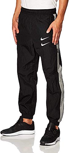 Nike M NSW Swoosh Pant WVN Joggers & Tracksuits Men Black/Grey/White - XXL - Tracksuit Bottoms Pants