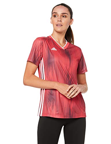 adidas Damen TIRO 19 JSY W T-Shirt, Power red/White, XL