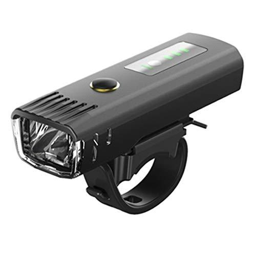 AMZSELLER Luz Trasera Bicicleta Smart Induction Bicycle Front Light Set USB Recargable Luz Trasera Faro Lámpara de Bicicleta Linterna de Ciclismo para Bicicleta (Color : M1 Black Taillight)