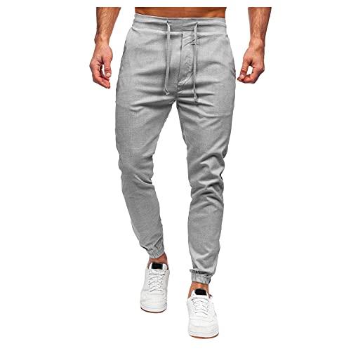 Binggong Pantalones de chándal largos para hombre, pantalones de deporte, pantalones de chándal con cordón, pantalones de ocio, pantalones para correr, para ir al gimnasio, de corte ajustado.