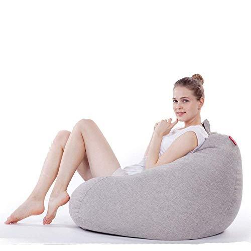 Tägliche Ausrüstung Boden Klappsofa Stuhl Sitzsack Stuhl Memory Foam Möbel Tuffed Foam Gefüllte Möbel und Zubehör für Wohnheim Raum Klapp verstellbare Couch Liege (Farbe: Hellgrau Größe: Freie Größ