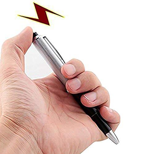 Bolígrafo de descarga eléctrica para broma divertida, creativo y sorprendente, color negro, de Uteruik.