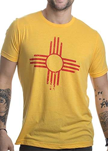 Vintage New Mexico Flag | Zia Sun New Mexican State Pride Men or Women T-Shirt-(Adult,XL)