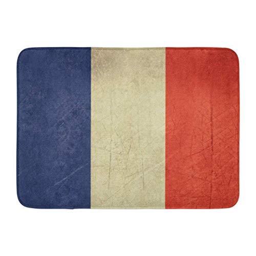 Fußmatten Bad Teppiche Outdoor/Indoor Fußmatte Französisch souveräner Staat Flagge des Landes Frankreich in Offiziellen Farben Landschaft Badezimmer Dekor Teppich Badematte