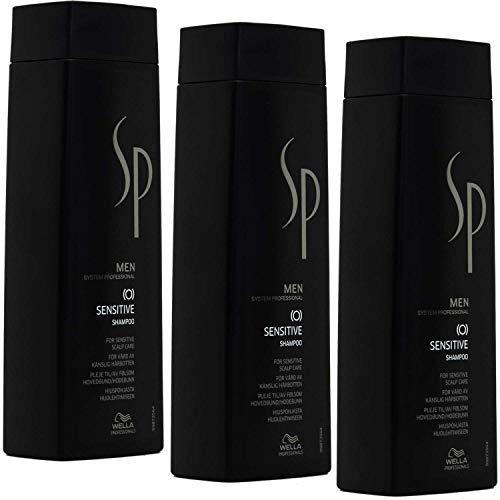 Wella SP Men Sensitive Shampoo, set van 3 stuks, 250 ml