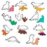 Dinosaurio Molde Juego Galletas Infantiles Dinosaurios Cookie Fondant Moldes Niños Acero Inoxidable Pastel Cumpleaños Adecuado para Cocina Restaurante Fiesta Regalo Padres e Hijos 11 Piezas