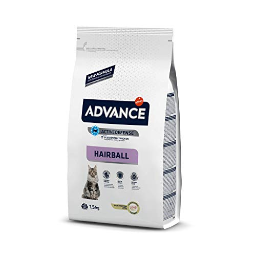 ADVANCE Hairball Trockenfutter Katze, 1-er Pack (1 x 1.5 kg)