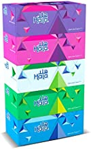 Hala Facial Tissue-Pack of 5 boxes, 200 sheets x 2Ply