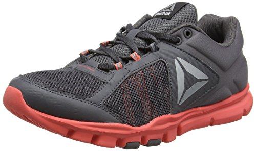 Reebok Yourflex Trainette 9.0 MT, Zapatillas de Deporte Mujer, Gris (Ash Grey/Fire Coral/Wht/Silver Metallic/Grey/Black), 40 EU