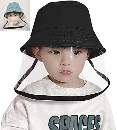 Doriley - Cappello da bambino, anti-UV, anti-polvere, con protezione facciale, visiera trasparente, per 2 - 8 anni, unisex, colore: Trasparente