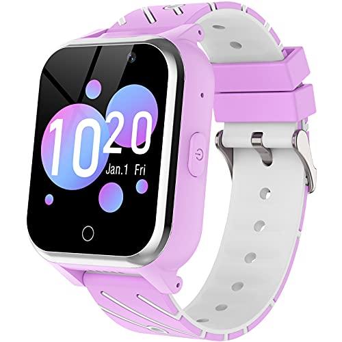 Smartwatch per Bambini, Orologio Telefono per Bambini per Ragazzi, Ragazze con Doppia fotocamera, Gioco, Sveglia, Calcolatrice, Musica,Smartwatch per Bambini dai 4 ai 13 anni (viola)