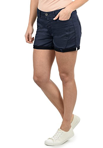 DESIRES Elja Damen Jeans Shorts Kurze Denim Hose Boyfriend-Shorts Aus Stretch-Material Loose Fit, Größe:36, Farbe:Insignia Blue (1991)