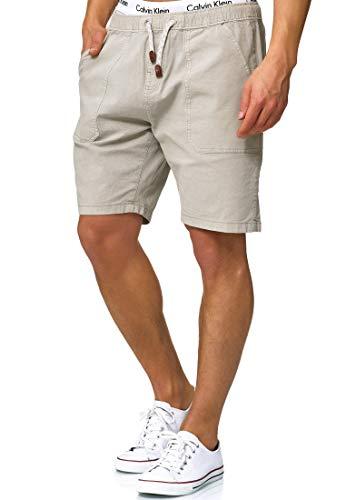 Indicode Caballero Stoufville Pantalones Cortos Chinos con 3 Bolsillos y cordón de 98% algodón   Más Corto Pantalón Regular Fit Bermuda Stretch Men Pants Verano para Hombres