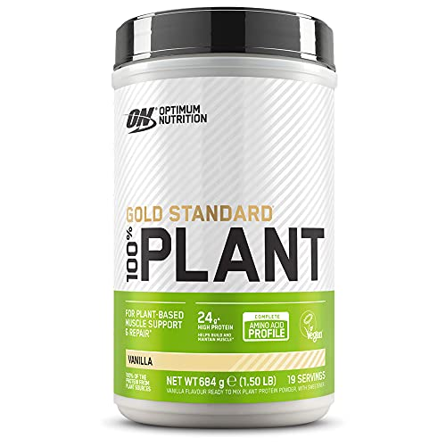 Optimum Nutrition Gold Standard 100% vegetal, Proteína Vegana en Polvo, Vainilla, 19 Porciones, 684 g, Embalaje Puede Variar