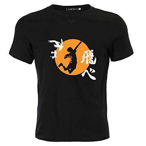 Peoria Haikyu!! T-Shirt, Short Sleeves Crewneck Anime Summer T-Shirts for Men and Women(2XL Style 03)