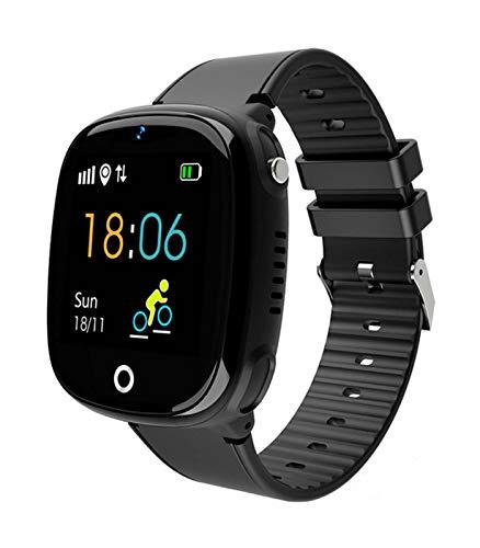 Smartwatch Kinder Telefonuhr, Intelligente Uhr mit LBS Tracker SOS Handy Touchscreen, IP67 Wasserdicht Voice Chat Kamera Wecker Digitale Armbanduhr, für Jungen Mädchen Geschenk