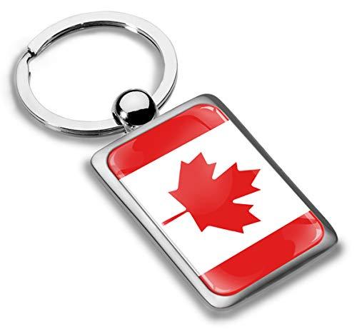Biomar Labs® Schlüsselanhänger Metall Keyring mit Geschenkbox Autoschlüssel Geschenk Metall-Schlüsselanhänger Schlüsselbund Edelstahl Kanada Kanadisch Flagge Canada, KK 226