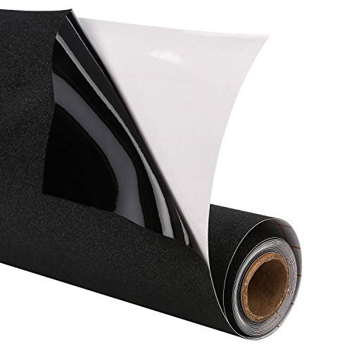 Magicfly Fensterfolie Schwarz Blickdicht Sichtschutzfolie selbstklebend statisch Anti-UV 90 x 200 cm für Schlafzimmer Badezimmer Schwarz