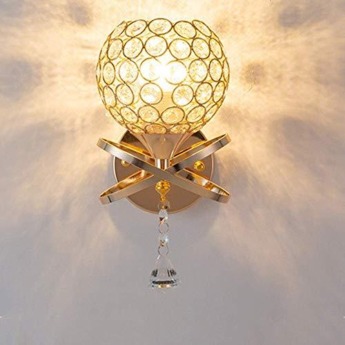 JAOSY Lámpara de Pared Nuevo País Lámpara de Pared Pantalla de Cristal Lámparas de iluminación de Hierro Forjado Longitud Dorada 16 cm Alto 30 cm Sala de Estar Dormitorio Estudio Restaurante