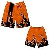 MYLZZ Naruto - Pantalones cortos de playa de secado rápido para hombre y mujer, pantalones cortos de playa unisex Anime informales de secado rápido (L4,110)