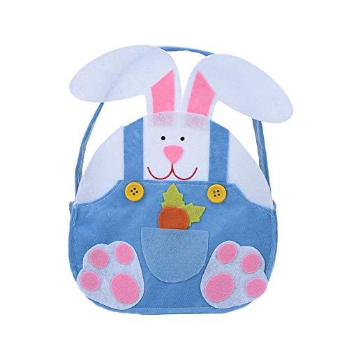 Easter Bunny Bag Felt Cloth Candy Egg Bag Toy Bambini Carino Coniglio Manico Orecchio Regali di...