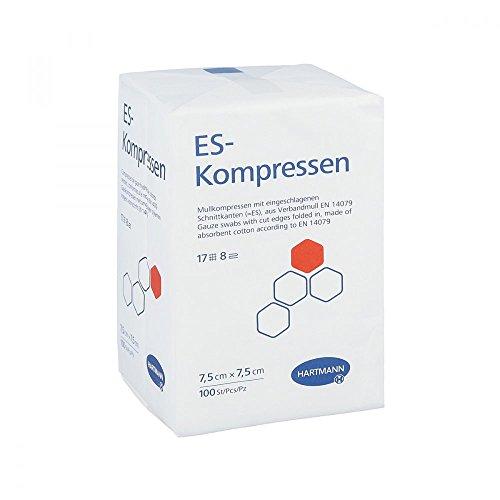 ES-Kompressen Unsteril 7,5x7,5 cm 8fach, 100 St