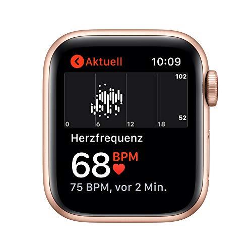 2020 AppleWatch SE (GPS+ Cellular, 40mm) Aluminiumgehäuse Gold, Sportarmband Sandrosa