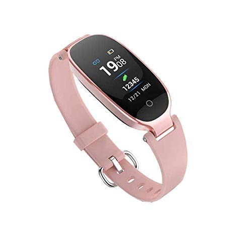 Zuoli Fitness Tracker,Women Smart Fitness Watch, Heart Rate Monitor Smart Bracelet IP67 Waterproof Smart Bracelet with Health Sleep Activity Tracker Pedometer for Smartphone (Rose Gold+H)